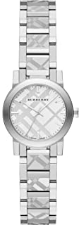 Swiss Rare Engraved Silver Dial 26mm Women Stainless Steel Wrist Watch The City BU9233