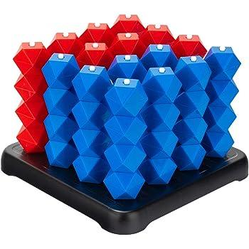 Findbetter 立体4目並べ 立体四目 3次元パズル 脳トレ 家族 友達楽しめ対戦 立体パズル 立体4目ならべ
