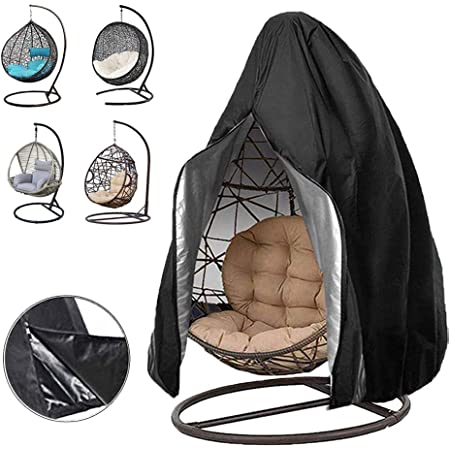 Rattan Furniture Garden Hanging Chair Cover,Patio Chair Dust Waterproof UV Protector Swing Chair Cover With Zipper For Outdoor Egg Chair Swing Chair