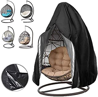 Oslimea Patio Hanging Egg Chair Cover, Durable Lightweight Waterproof Egg Swing Chair Cover with Zipper Fits Most Outdoor ...
