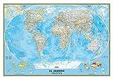 El Mundo Classic pequeño (100x70) laminado castellano. 1:42.680.000. National Geographic.