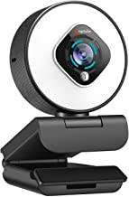 Streaming Webcam with Light - HD 1080P Autofocus Computer Camera with Microphone USB Camera with Digital Zoom for Xbox PC ...
