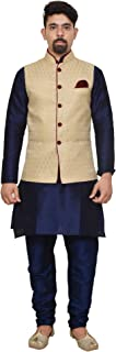 Mag Men's silk Kurta Churidhar With For Men For Men Waistcoat