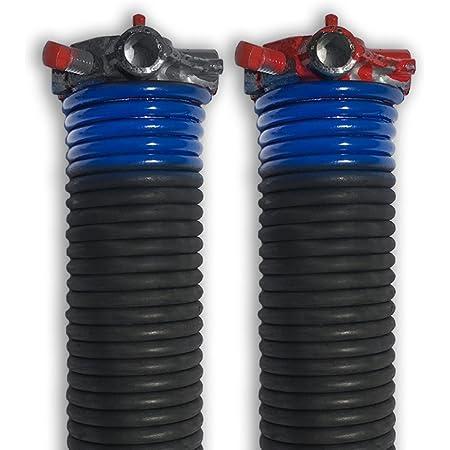 Pair of 262 X 1 3//4 X 33-44 Garage Door Torsion Springs with Winding Bars 44