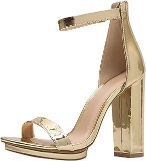 77d8536c6ed Wild Diva Womens Open Toe High Chunky Heel Ankle Strap Platform Sandal  Pumps Shoes