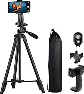 MACTREM Treppiedi Cellulare, Treppiede Fotocamera Smartphone, 118cm Alluminio Leggero Cavalletto per Cellulare iPhone, Sam...