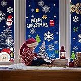Flysee Pegatinas de Navidad, Pegatina Copo de Nieve, Feliz Navidad...
