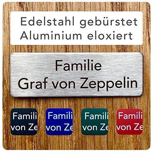 Firmenschild und Briefkastenschild (Hinweisschild) Aluminium Schwarz