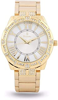 Sunex Women's Watch Analog Gold Stainless Steel White Dial S0349GW