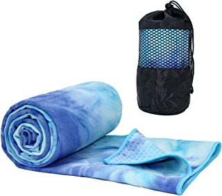 ATIVAFIT Non Slip Yoga Towel,  Super Soft,  Absorbent Mat Towel,  Perfect Size for Hot Yoga,  Pilates and Workout-74x25.2 Inch