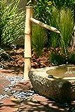 Bamboo Accents Wasserbrunnen für den Außenbereich, 91 cm hoch, mit Pumpe, einfache Installation im Teich oder Garten, handgefertigt, glatter natürlicher, splitterfester Bambus