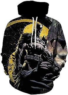 Men's Sweatshirts Fall Winter Sweatshirts Superheroes Anime Sweatshirts Batman Hoodies Cosplay