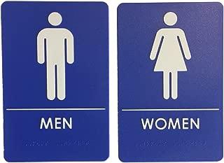 Men's and Women's Restroom Signs, ADA-Compliant Bathroom Door Signs for Offices, Businesses, Restaurants   Made in USA