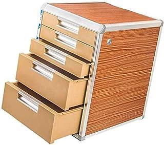 Armoire de rangement 5e étage en alliage d'aluminium + planche en bois, armoire à tiroir, fournitures de bureau, trieur de...