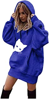 Women Hoodie with Pockets,Fashion Solid Color Clothes Hoodies Pullover Coat Hoody Loose Outwear Sweatshirt