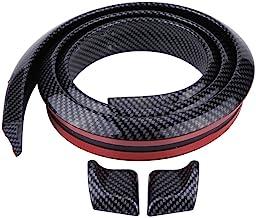 Alerón Trasero del Tronco 1.5 m / 4.9 pies de Fibra de Carbono Suave de Goma del Techo del Techo trasero Alerón del ala Etiqueta Engomada del Labio(Negro)
