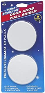2 Round Self Adhesive Paintable Door Knob Wall Protector Shield White Stop New