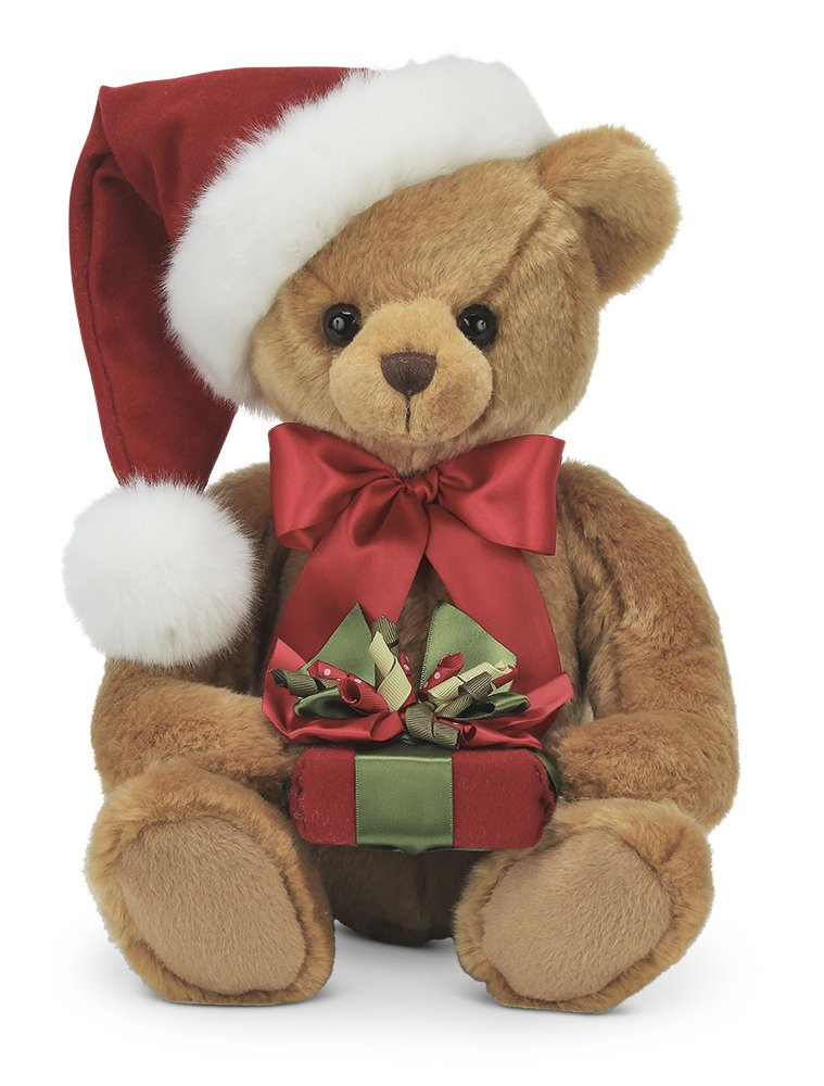Image of A Customer Favorite: Bearington Classic Christmas Teddy Bear Plush Toy