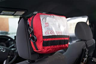 First Aid IFAK Velcro Pouch - Small - Made in USA (Red, with Headrest Mount)