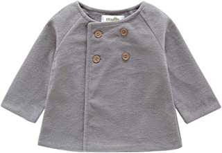 Weixinbuy Kids Baby Girl's Coat Double-Breasted Winter Warm Fleece Jacket Outerwear Clothes