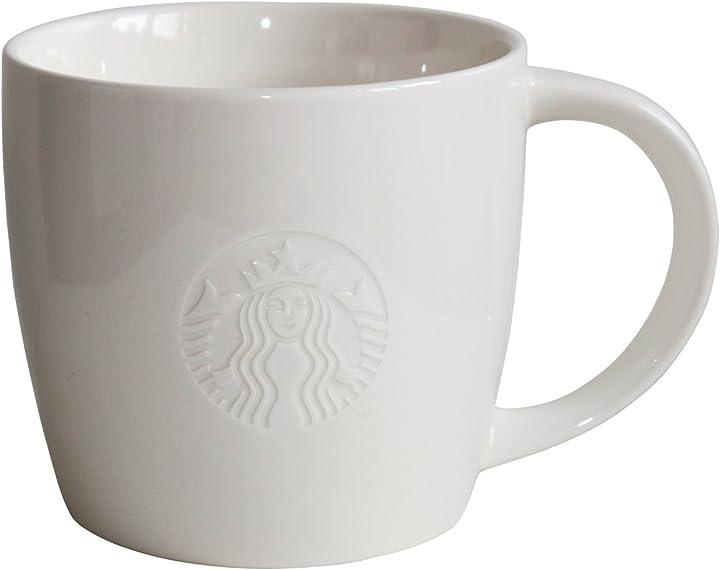 Tazza starbucks tazza da caffè bianco coffee cup mug classic white collectors venti 20oz TD-2008