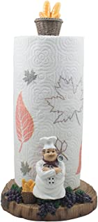 French Chef Pierre Paper Towel Holder for Cottage Kitchen Decor or Decorative Bar & Countertop Display Stand As Unique Wedding Gifts