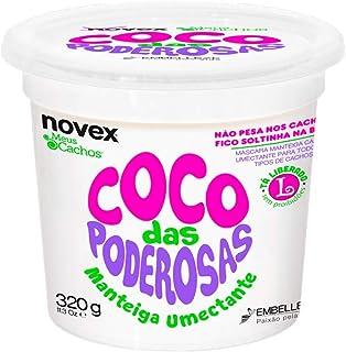 Manteiga para Cabelo Coco Das Poderosas Umectante 320 g, Novex meus cachos