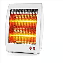 LQ&XL Calefactores y radiadores halógenos eléctrico Estufa halógena Calor Halógeno 800W (Control de Temperatura, Funcion Ventilador, Proteccion sobrecalentamiento, Anti-vuelco) E