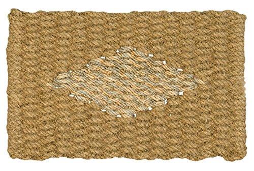 Jute & Co. Felpudo de Cuerda de Coco Natural y decoro de Yute, 45x 75cm, Beige