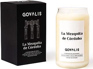 GOVALIS Vela Mezquita de Córdoba | Perfumadas y Aromáticas | Cera de Soja & Coco 100% Natural – Velas Recuerdos Relajación Decorativas Cumpleaños Regalos Originales – 70-90 h – 390 g