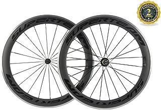 Superteam 60mm Alloy Braking Surface Wheel Carbon Fiber 700c 23mm Clincher Wheelset
