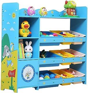 Boîte de rangement pour jouets pour enfants Organisateur de rangement for jouet avec bacs en plastique, tiroir for étagère...