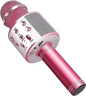Wireless Bluetooth Karaoke Microphone Machine,Portable Handheld Karaoke Bluetooth Handheld Karaoke Speaker Player Machine ...