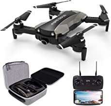 $199 » le-idea GPS Drones with Camera 4K for Adults, IDEA20 5G WiFi FPV Live Video with Adjustable Wide-Angle Camera and GPS Return Home Quadcopter, Follow Me Altitude Hold Headless Mode RC Helicopter