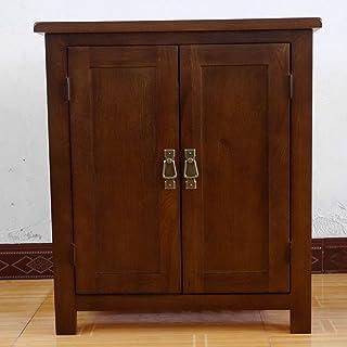 Rongyuan Armoire de rangement en chêne 2 portes Hauteur 75 cm
