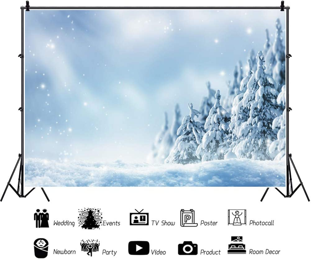 Leowefowa Mesa Mall Winter Snowscape Backdrop for 9x6ft Selling and selling Vinyl Photography