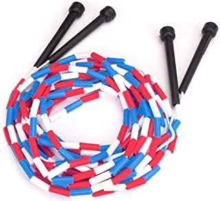 16-Foot Double Dutch Jump Ropes, 2-Pack - Red, White, Blue Skip Rope for Exercise - Sports & Outdoor Activities for Kids, Adults, and Athletes - Toys, Games, Family Fun