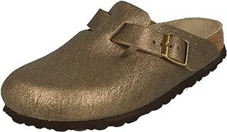 New Women's Boston Clog Washed MTLC Gold 41 N