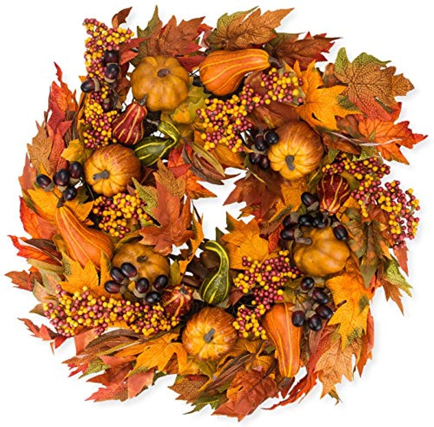 The Wreath Depot Montgomery Hollow Silk Fall Door Wreath, 26 inch