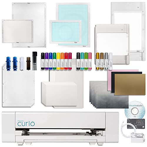 Silhouette Curio Crafting Machine with Lots of Accessories! Including Large 12 Inch By 8.5 Inch