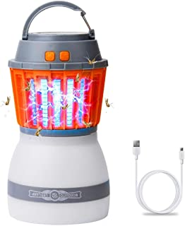 HAKOL Ultimate Bug Zapper Lamp   Lightweight & Efficient Insect Fly Killer   2-in-1 Portable Mosquito Eliminator & Camping...