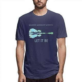 Whisper Words of Wisdom Let It Be Guitar Lake Shadow Men's T Shirt Short Sleeve Classic Shirts