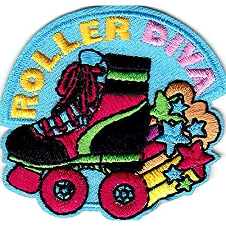 set of 2 ROLLER SKATE Patch Iron On Patch Embroidered Patch Jacket Patch Clothes Patch Applique mask patch   29