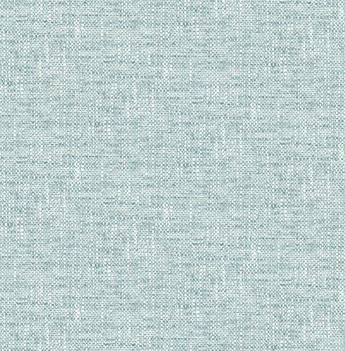 NuWallpaper NU2919 Aqua Poplin Texture Peel Stick Wallpaper product image