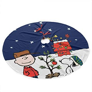 Return To Dust Christmas Cartoon Snoopy 36 Inch Christmas Tree Skirt Christmas Tree Decorations Christmas Decoration Gifts