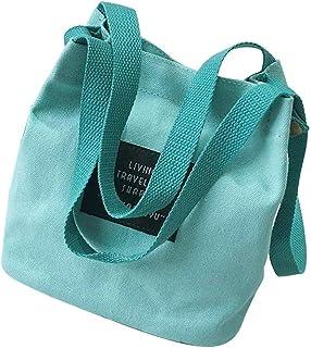Wultia - Girls Shoulder Bag Trend Versatile Ladies Messenger Bag Canvas Crossbody Bags for Women Bolsa Feminina Dropshipping #T09 Green