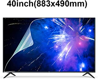 KUYUC Screen Protector for 40 Inches TV, Anti Blue Light Anti Blue Light Screen Filter, LED TV Screen Protector Anti-Glare Anti-Scratch, Eye Protection LCD Filter Film (Color : A)