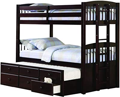 Coaster Home Furnishings Kensington Twin Bed with Trundle Understorage Cappuccino Bunk