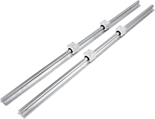 Happybuy Linear Rail 2 Set SBR20-1200mm Linear Rail Support Linear Rail Shaft Guide for 20mm Slotted Bearings
