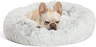 Lovlifer Marshmallow Cat Bed, Thicken Warm Round Comfortable Pet Bed For Puppy Dog Teddy Cat, Non-slip Bottom Pet Lounger ...